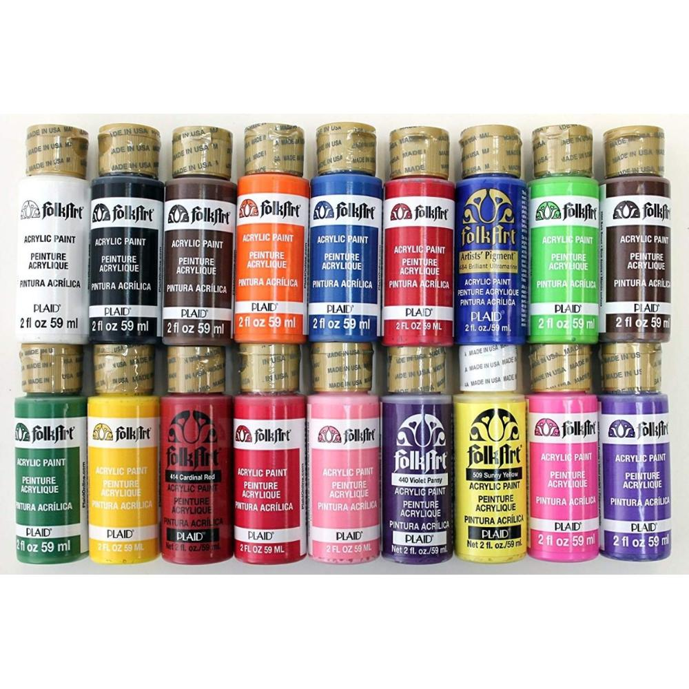 Acrilica-Folkart-59ml-mate-metalico-neon-perla-glitter