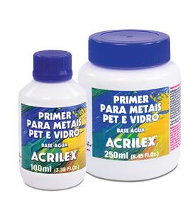 Imprimación á auga Acrilex para metal, vidro e madeira